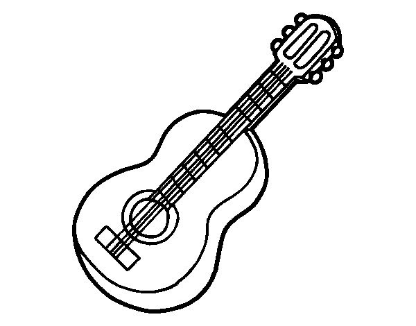 Coloriage et dessins gratuits Guitare folk à imprimer