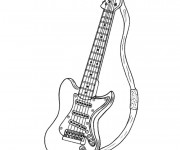 Coloriage Guitare Rock