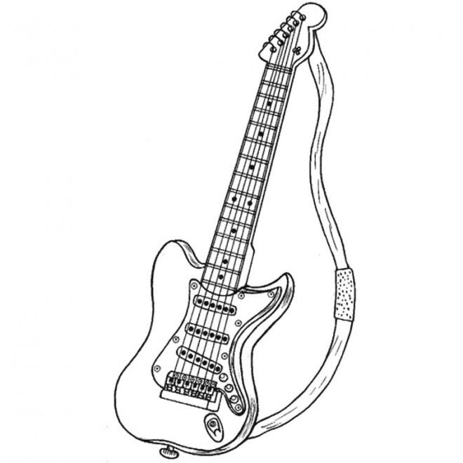 Coloriage et dessins gratuits Guitare Rock à imprimer