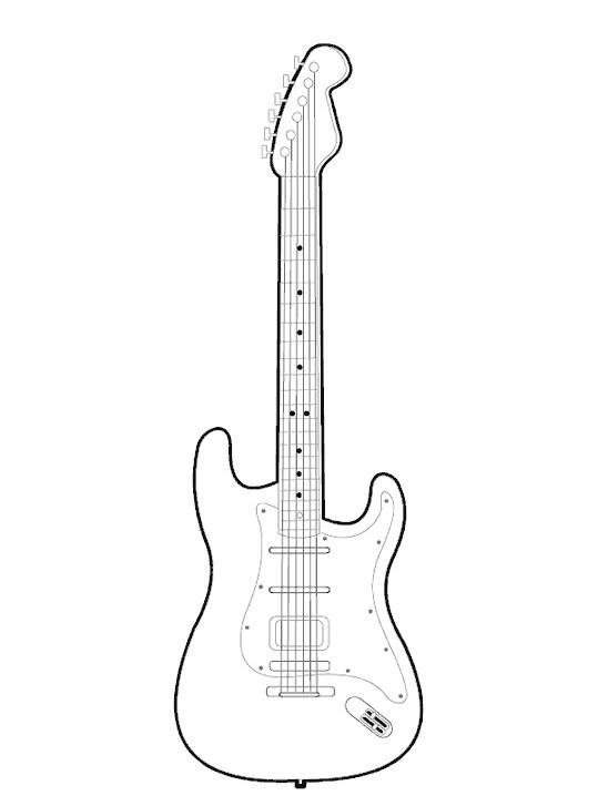 Coloriage et dessins gratuits Guitare Rock couleur à imprimer