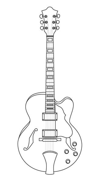 Coloriage et dessins gratuits Guitare Rock dessin à imprimer