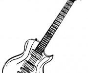 Coloriage et dessins gratuit Guitare rock facile à imprimer