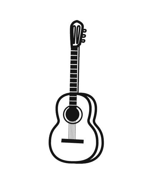 guitare dessin facile