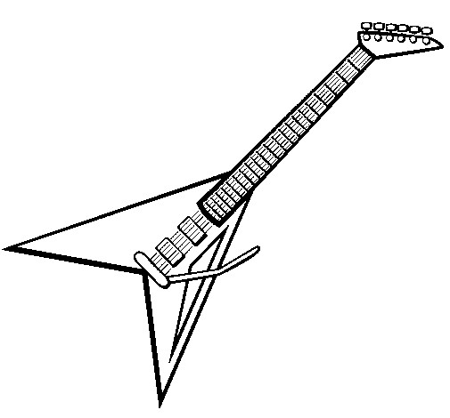 Coloriage et dessins gratuits Guitare triangulaire à imprimer