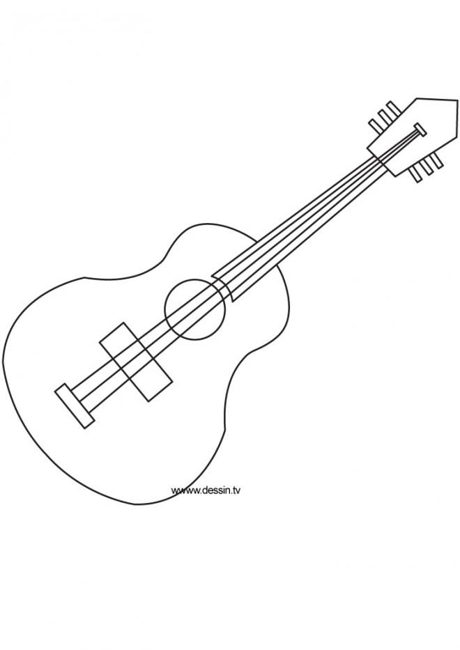 Coloriage et dessins gratuits Guitariste dessin à télécharger à imprimer