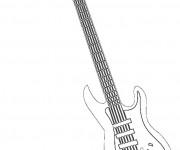 Coloriage et dessins gratuit Guitariste musique Rock à imprimer