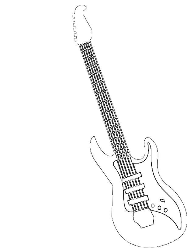 Coloriage et dessins gratuits Guitariste musique Rock à imprimer