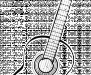 Coloriage et dessins gratuit Image guitare gratuite à imprimer