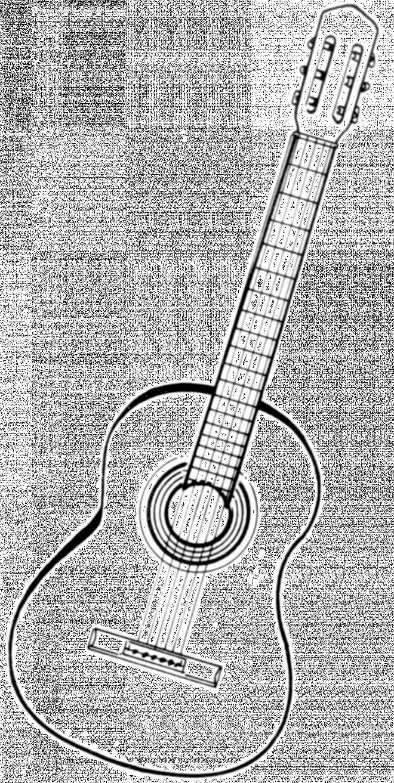 Coloriage et dessins gratuits Image guitare gratuite à imprimer