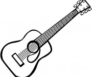 Coloriage Photo guitare