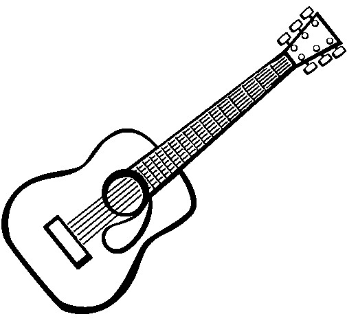 Coloriage photo guitare dessin gratuit imprimer - Pagina da colorare per chitarra ...