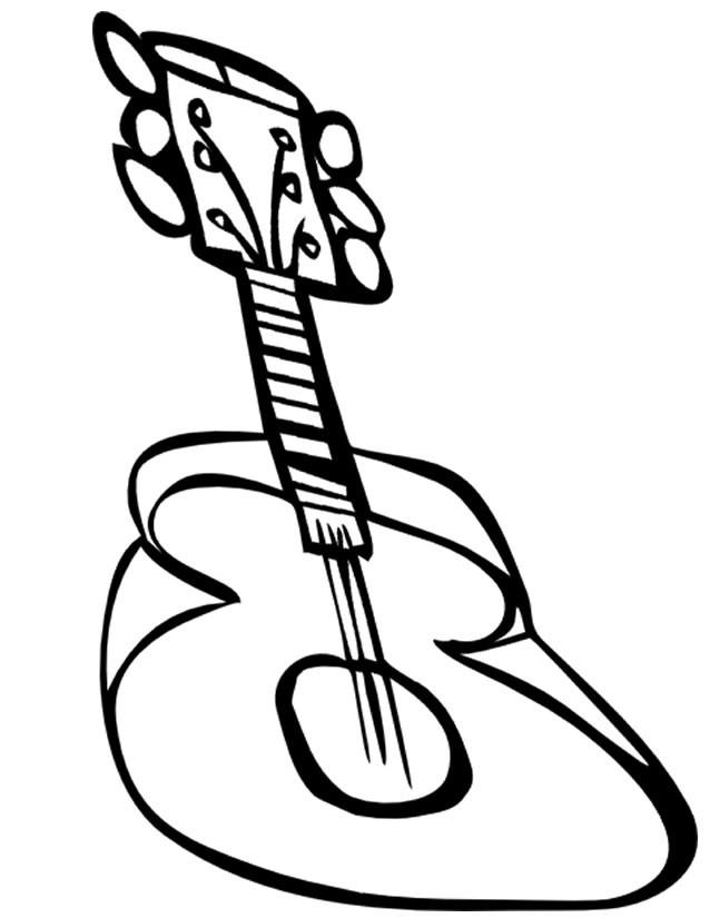 Coloriage et dessins gratuits une guitare en 3d à imprimer