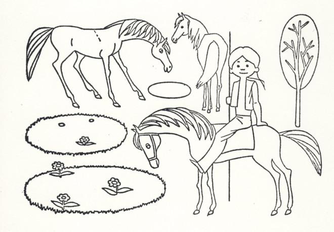 Coloriage Cheval Indien.Coloriage Chevaux Indiens Dessin Gratuit A Imprimer
