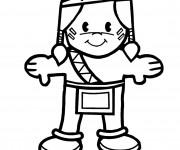 Coloriage et dessins gratuit Enfant indien à imprimer