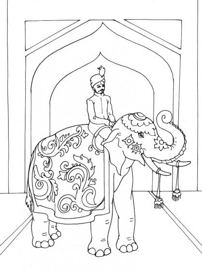 Coloriage indien d 39 inde dessin gratuit imprimer - Coloriage inde ...