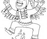 Coloriage Danseuse Indienne.Coloriage Indien Gratuit A Imprimer Liste 20 A 40