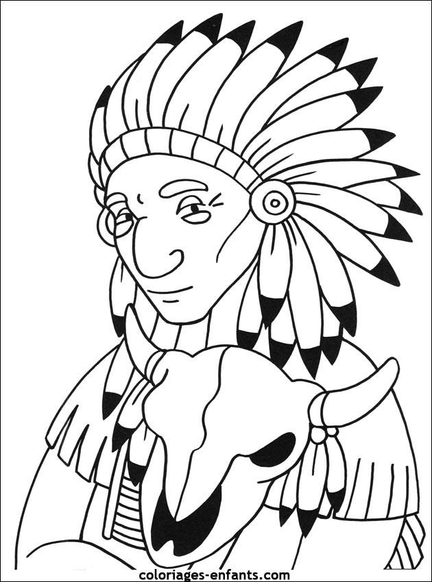 Coloriage et dessins gratuits Indien dessin facile couleur à imprimer