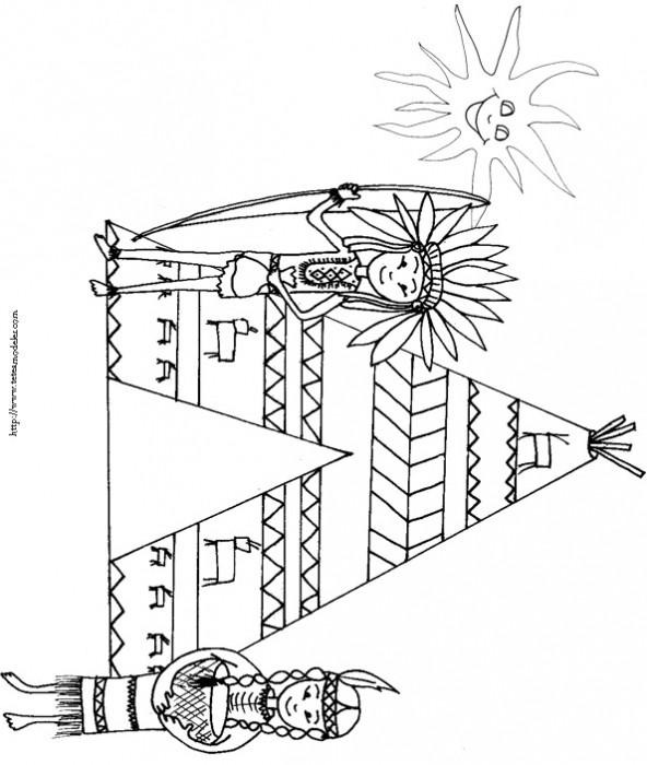 Coloriage et dessins gratuits Indien et symbole à imprimer