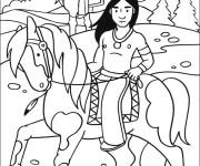 Coloriage et dessins gratuit Indien maternelle à imprimer