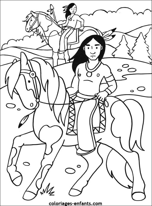 Coloriage Indien Maternelle Dessin Gratuit à Imprimer