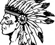 Coloriage et dessins gratuit Indiens d'amérique à imprimer