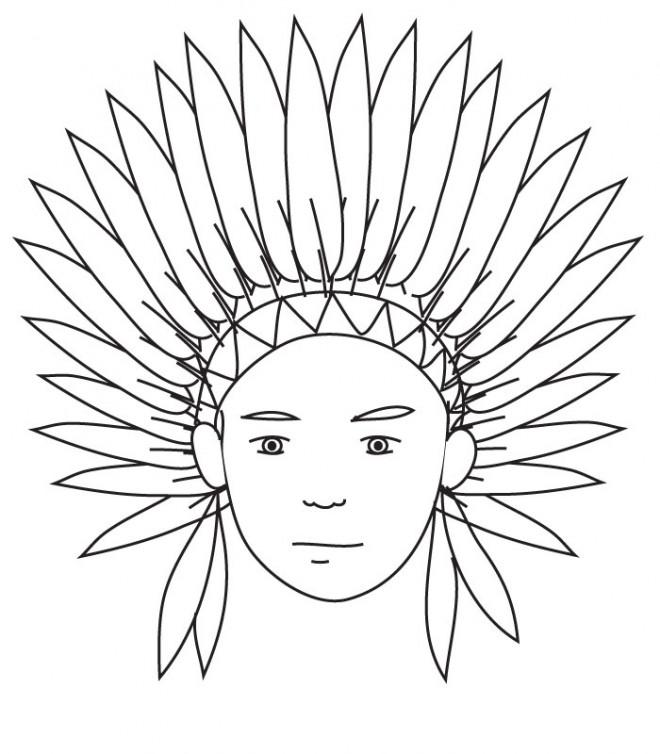 Coloriage et dessins gratuits La coiffe à imprimer