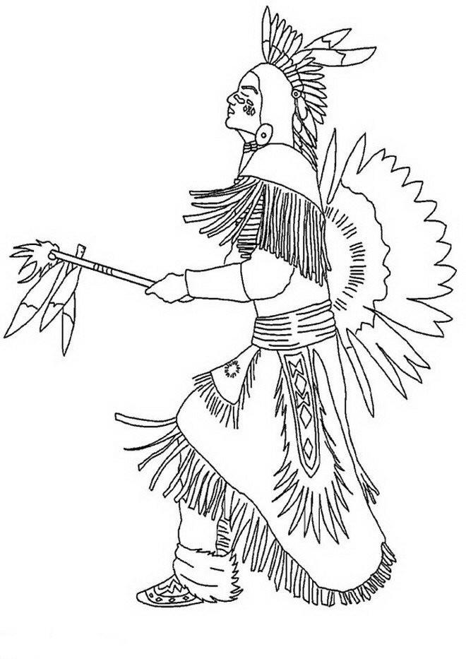 Coloriage et dessins gratuits Les rituelles des indiens à imprimer