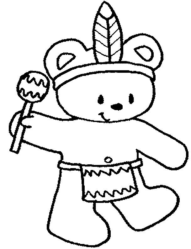 Coloriage ours indien dessin gratuit imprimer - Indien coloriage ...