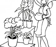 Coloriage dessin  Jardin 15