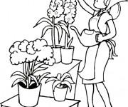 Coloriage et dessins gratuit Jardin de fleurs à imprimer