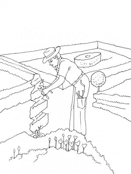 Coloriage et dessins gratuits Jardin extraordinaire à imprimer