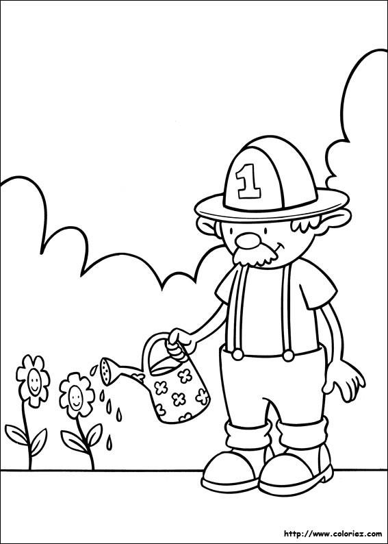 Coloriage et dessins gratuits Jardin Fleurs dessin animé à imprimer