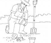 Coloriage et dessins gratuit Jardinage maternelle à imprimer