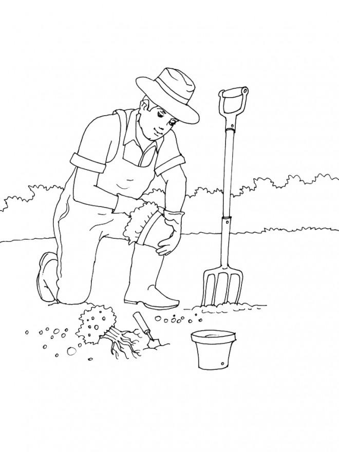 Coloriage jardinage maternelle dessin gratuit imprimer for Dessiner son jardin en ligne