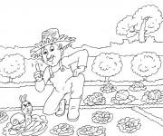 Coloriage dessin  Jardinier 1
