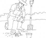 Coloriage dessin  Jardinier 10