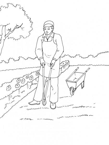 Coloriage et dessins gratuits Jardinier 26 à imprimer