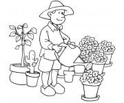 Coloriage dessin  Jardinier 3