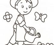 Coloriage dessin  Jardinier 5