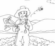 Coloriage dessin  Jardinier 8
