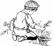 Coloriage et dessins gratuit Jardinier enfant à imprimer