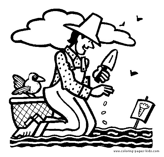 Coloriage et dessins gratuits Jardinier et carottes à imprimer