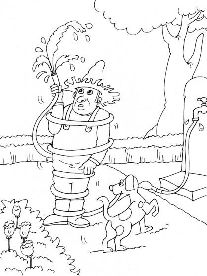 Coloriage jardinier humoristique dessin gratuit imprimer for Jardinier en ligne