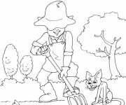 Coloriage et dessins gratuit Jardinier jardin à imprimer