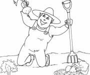 Coloriage et dessins gratuit Jardinier moisson à imprimer