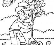 Coloriage jardinier gratuit imprimer liste 40 60 - Dessin jardinier humoristique ...