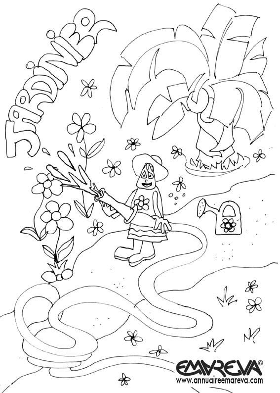 Coloriage et dessins gratuits Jardinier pour enfant à imprimer