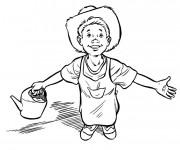 Coloriage et dessins gratuit Jeune fermier à imprimer