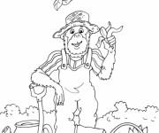 Coloriage Le jardinier singe