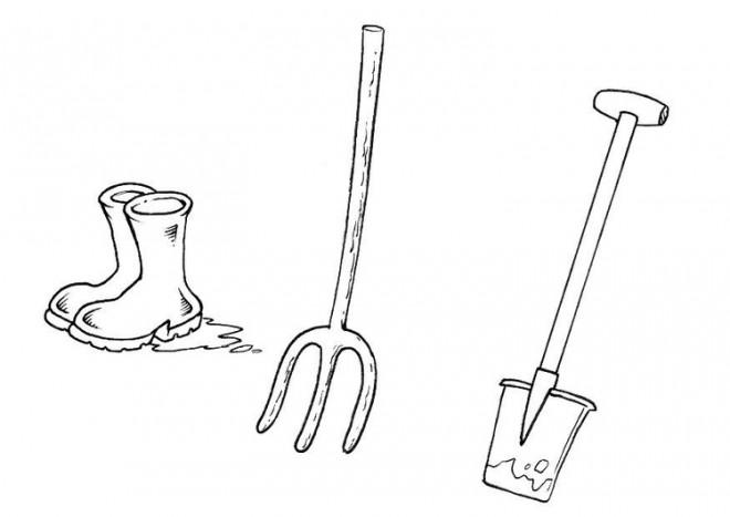 Coloriage Facile Jardinage.Coloriage Outils De Jardinage Facile Dessin Gratuit A Imprimer